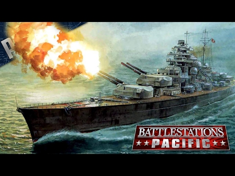 BATTLESHIP Bismarck MOD - Battlestations: Pacific Gameplay