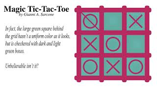 Magic Tic-Tac-Toe