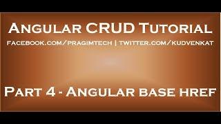 Angular base href
