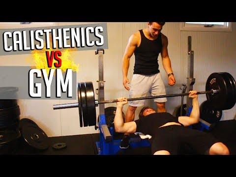 CALISTHENICS vs GYM - One Rep Max BENCH PRESS!