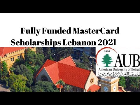 Mastercard Scholarship @ American University of Beirut