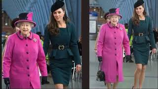 Kate's First Solo Public Engagement With The Queen