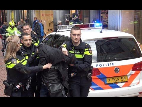 Agressieve dief met pepperspray aangehouden op de Nieuwendijk.