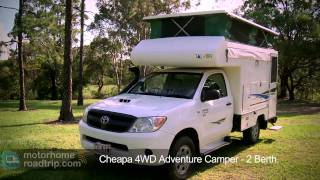 Australia Campervan Hire - Cheapa 4WD Adventure Camper.