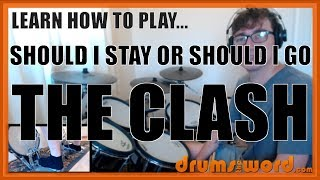 ★ Should I Stay Or Should I Go (The Clash) ★ Drum Lesson PREVIEW | How To Play Song (Topper Headon)