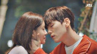 """""""키스 한 번만 해주면 안 되겠냐고요"""" 김정현♥정인선 키스 성공?! 으라차차 와이키키 18회"""