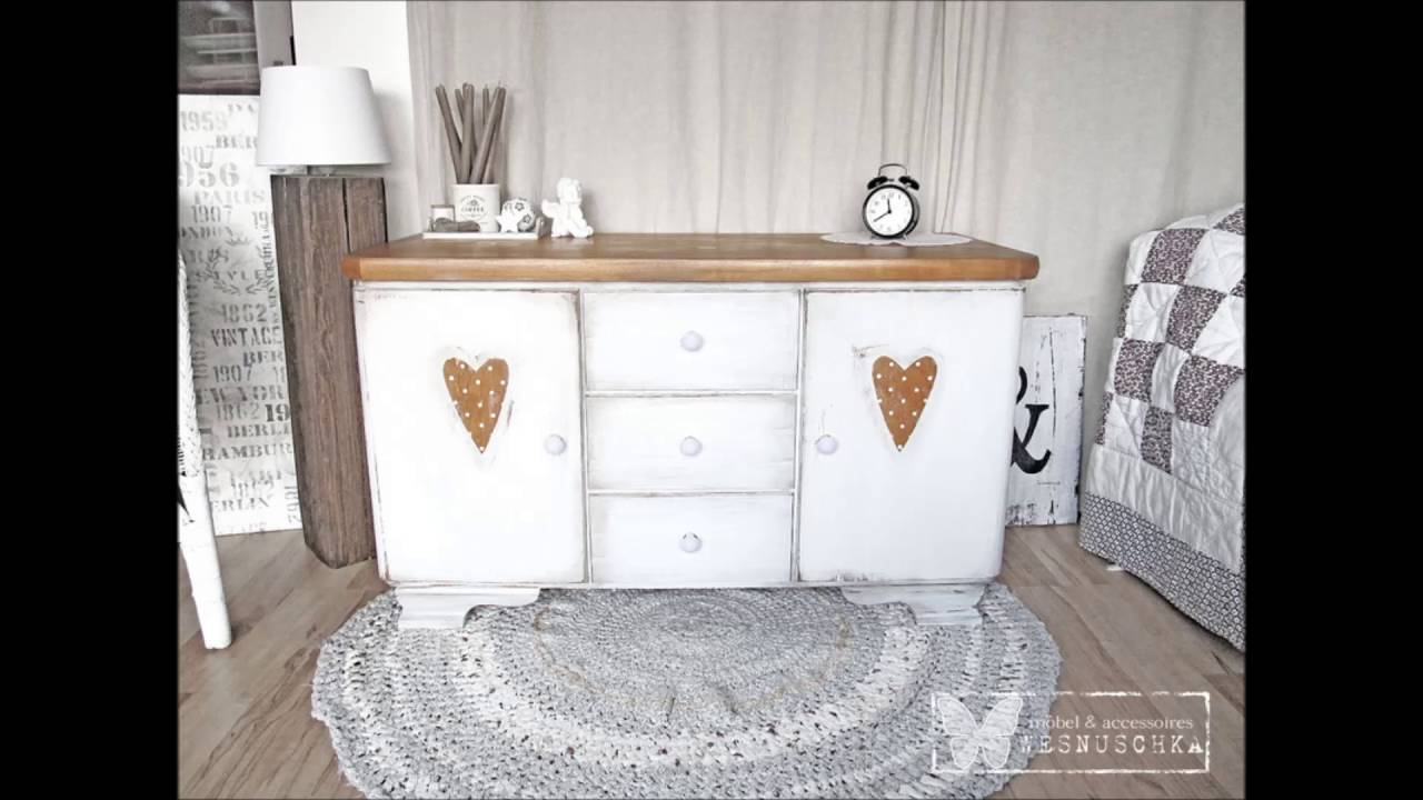 kommoden im shabby chic wesnuschka shop furniture design youtube. Black Bedroom Furniture Sets. Home Design Ideas