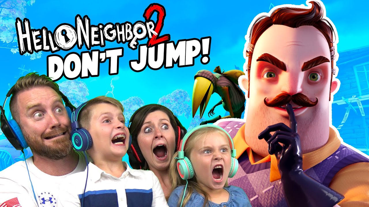 Try Not to JUMP in HELLO NEIGHBOR 2 Family Challenge!!! K-CITY GAMING