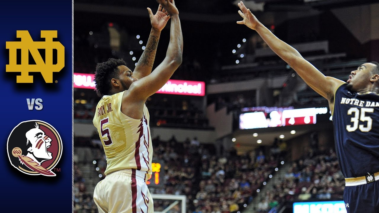 Notre Dame Vs Florida State Men S Basketball Highlights 2016 17 Youtube