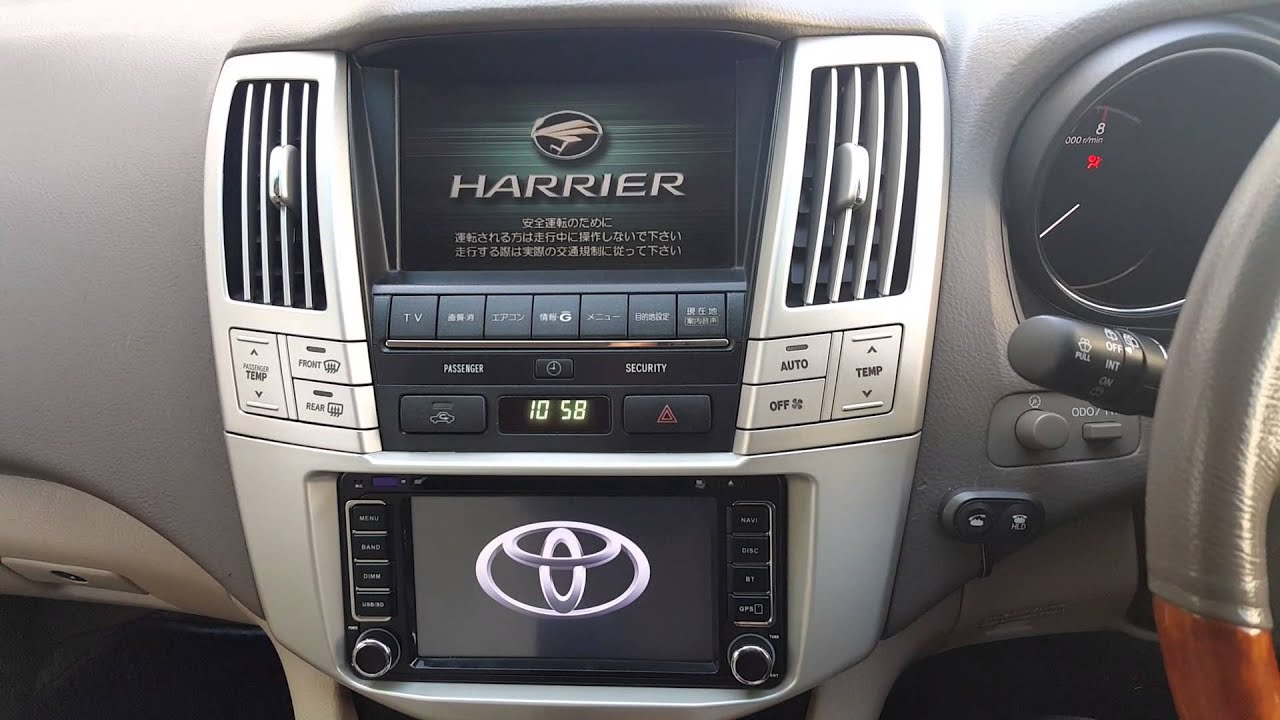 JDM Toyota Harrier 2-DIN conversion - YouTube