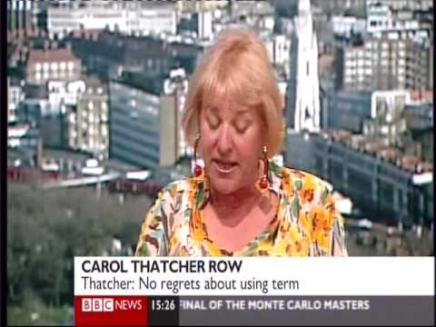 Carol Thatcher unrepentant over golliwogs