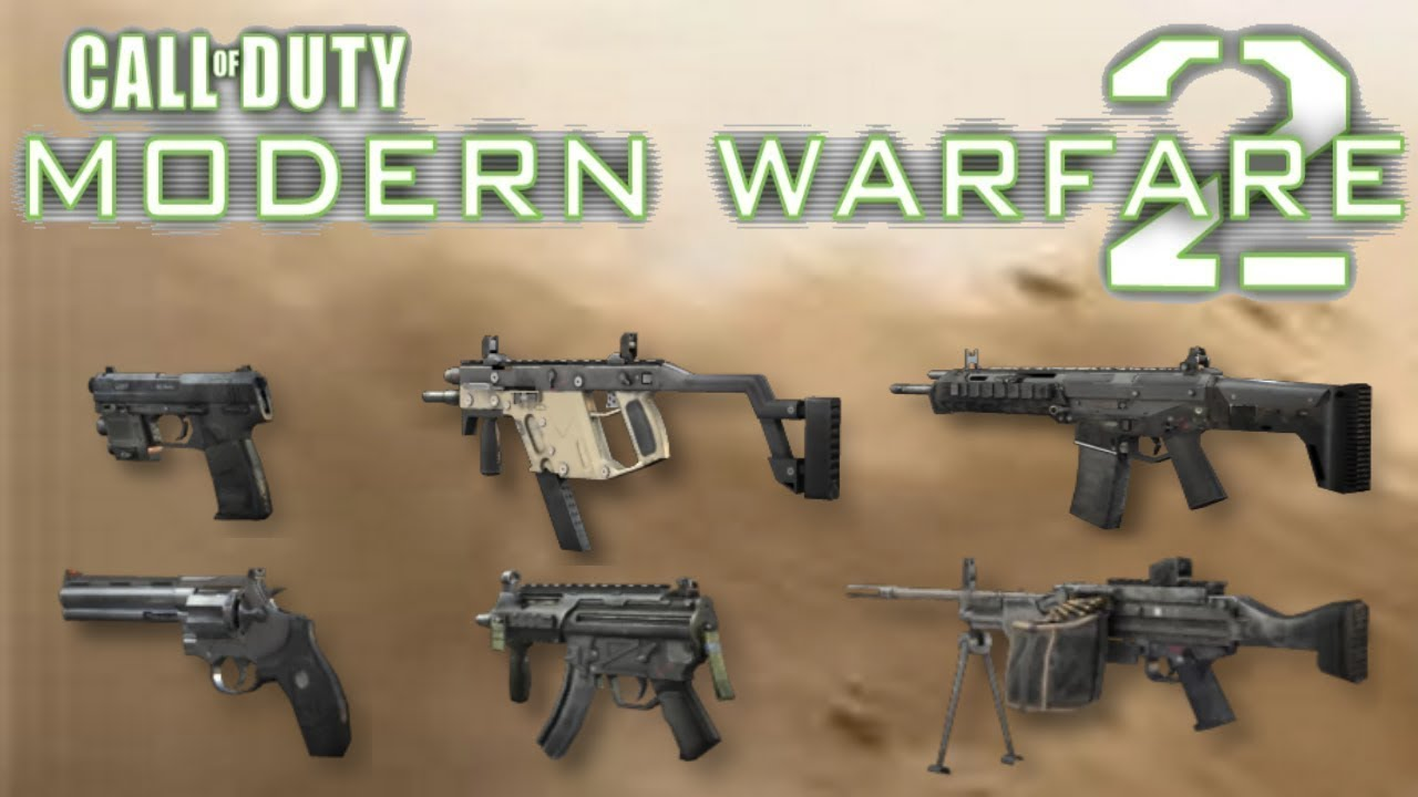 秀出所有武器吧!所有槍枝演示─《決勝時刻:現代戰爭 2─重製版》 - YouTube