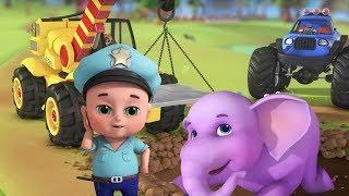 Elephant Firefighter Rescue Team | Nursery Rhymes | Kids Songs | Kids Role Play | Jugnu kids