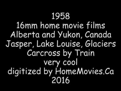 1958 16mm home movies of Alberta and Yukon