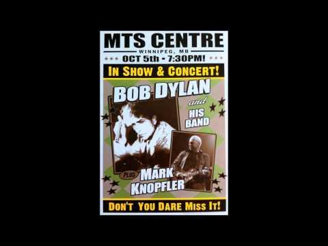 Bob Dylan in Concert: Winnipeg, Manitoba, Canada - October 5, 2012