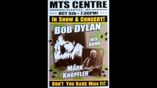 Bob Dylan in Concert: Winnipeg, Manitoba, Canada - October 5, 2012