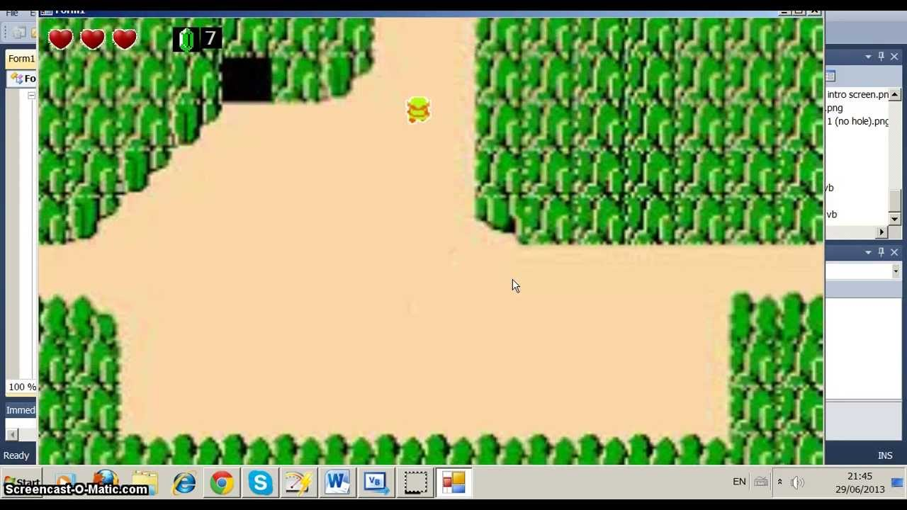 Simple NES Zelda game (Visual Basic) - YouTube