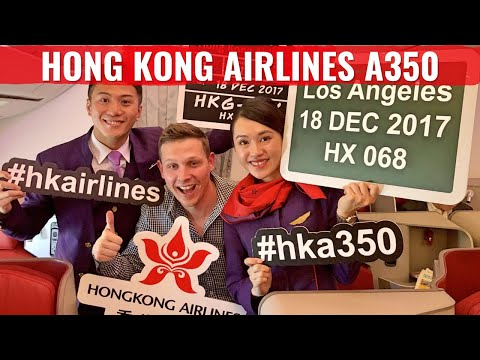 Review: Hong Kong Airlines NEW AIRBUS A350 Business Class to LAX