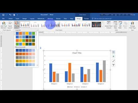 Microsoft word 16 full tutorial part 12  (chart)  in Bangla