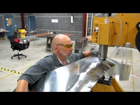 Baileigh Industrial MH-37HD Multi Power Hammer Making a 427 Cobra Fender in 11 Minutes