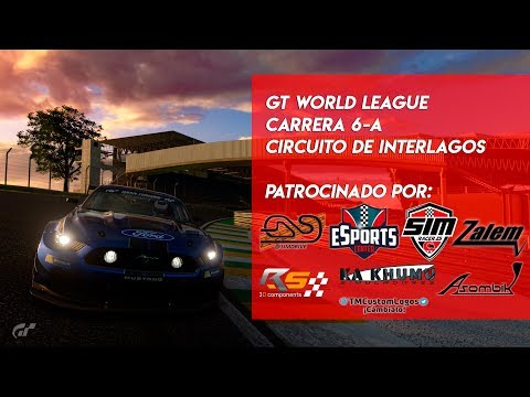 🏆 GT WORLD LEAGUE 🏆 Carrera 6 - A  | Circuito de Interlagos | Gran Turismo Sport PS4🔴 thumbnail