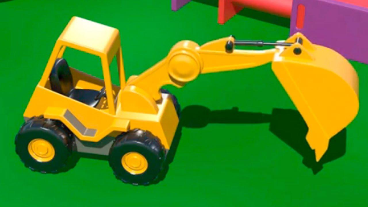 Cartoni animati per bambini costruire una scavatrice e