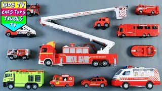Learn Fire Department Vehicles For Kids Children Babies Toddlers | Fire Engine Ladder Truck Kids TV