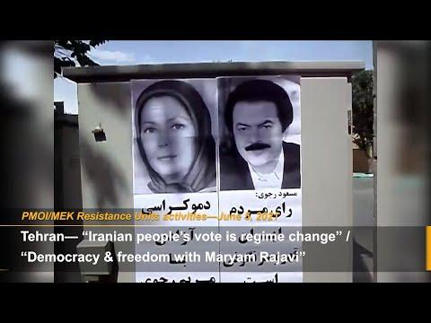 MEK Resistance Units spread slogans against Iran sham election
