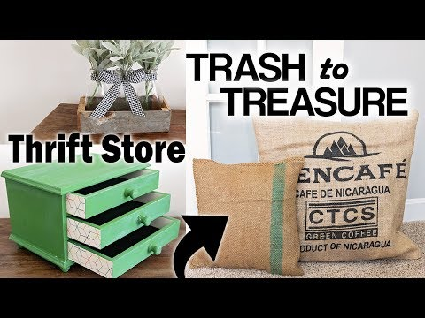 Thrift Store Makeover ⚫ Trash to Treasure Upcycle DIY