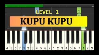 melodi piano kupu kupu yang lucu  - tutorial piano grade 1 - lagu anak indonesia - not pianika