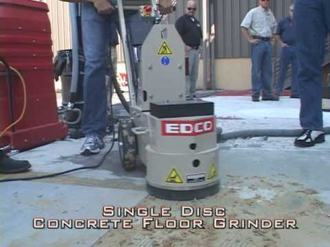see single disc concrete floor grinder from edco (classic style