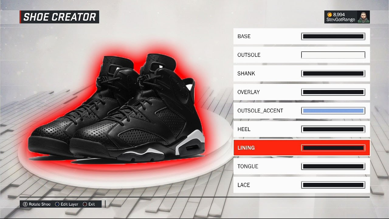 NBA 2K17 Shoe Creator | HOW TO CREATE AIR JORDAN BLACK CAT 6! | Air Jordan  Black Cat 6s on NBA 2K17! - YouTube