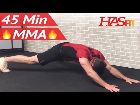 45 Min MMA Workout Routine - MMA Training Exercises UFC Workout Mixed Martial Arts BJJ MMA Workouts