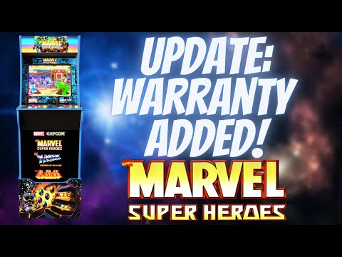 WARRANTY ADDED to Arcade1Up QVC Marvel Super Heroes Cabinets For Sale Now! from PDubs Arcade Loft