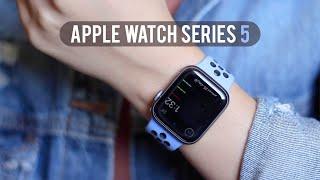 Apple Watch Series 5 | فتح صندوق ابل واتش الاصدار الخامس وايش تفرق عن الإصدار الرابع