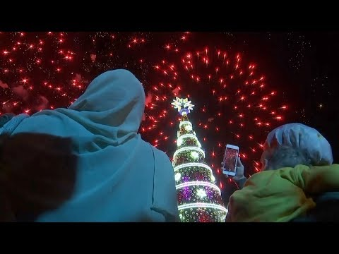 Festive cheer as Beirut Christmas tree lights up