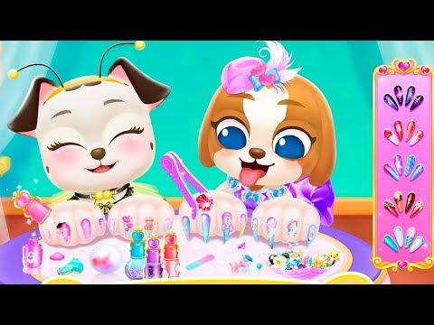 Прическа и макияж для Щенков в салоне красоты у принцессы в игровом мультике для детей