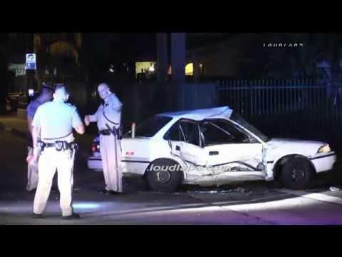 Hit & Run Traffic Collision / San Bernardino   RAW FOOTAGE