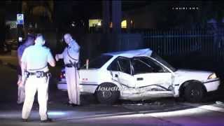 Hit & Run Traffic Collision / San Bernardino   RAW FOOTAGE