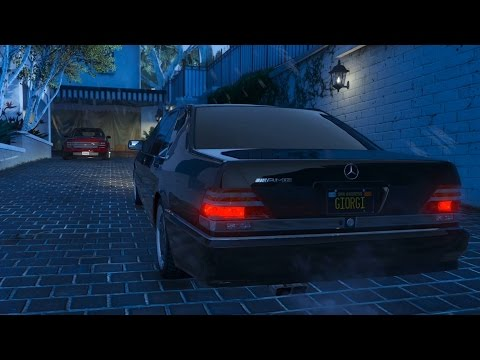 Mercedes-Benz W140 S70 V12 AMG - ILLEGAL Street Drift