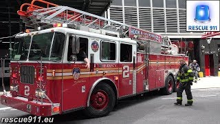 NYPD Police car + FDNY Ladder 2 + Battalion 8