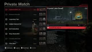 Friday the 13th the game (N13L for Xbox one scrimmage match