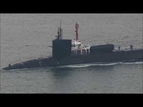 US submarine Michigan makes South Korea port call (credit: REUTERS)