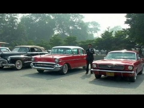 Pakistan Vintage Car Rally No Comment Youtube
