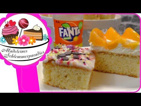 Alle Lieben Fanta Schnitte / Fanta Kuchen Mit Pfirsichen & Schmand Oder Streusel