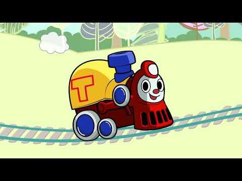 Теремок песенки для детей - Паровозик Трейни едет на детскую прощадку - Мультики про паровозик