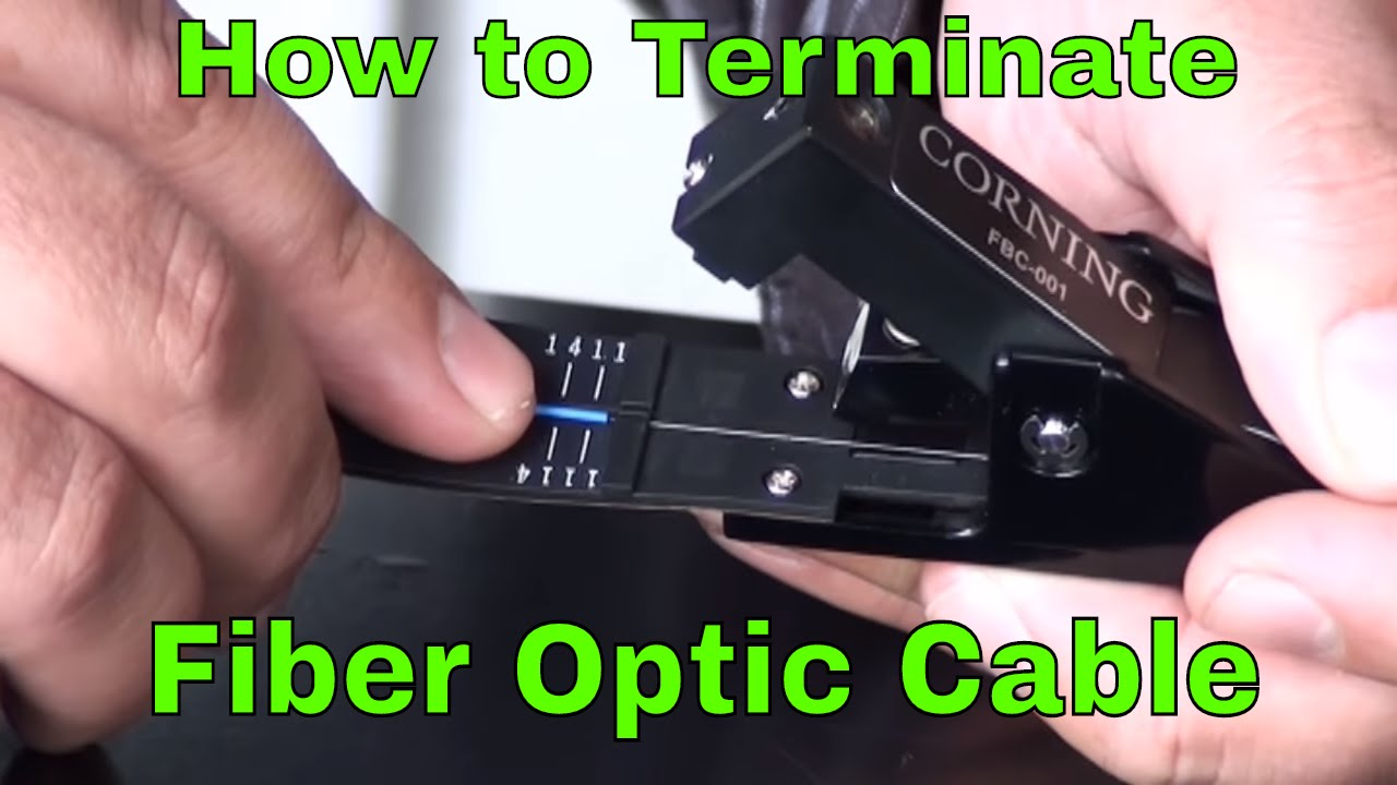 How To Terminate Fiber Optic Network Cable Youtube Cat6 Patch Panel Wiring Diagram Premium