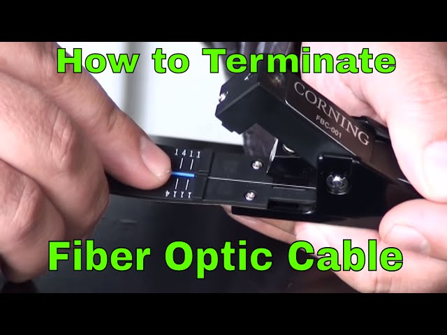 7d0be202d8f169 How to Terminate Fiber Optic Network Cable - YouTube