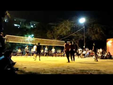 Chirag delhi vs jaipur Dinesh shooting volleyball tournament katwaria sarai new delhi