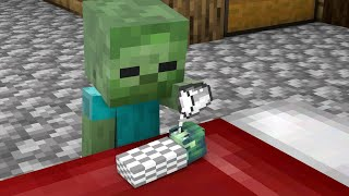 Monster School : Baby Zombie Girl, Don't Cry - Sad Story - Minecraft Animation